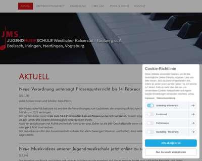 Screenshot (small) http://www.jugendmusikschule-breisach.de