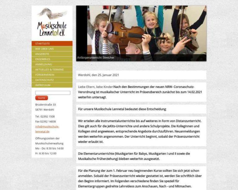 Screenshot (middle) http://www.musikschule-lennetal.de