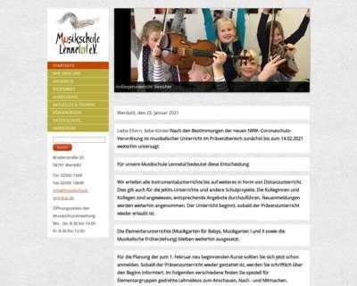 Screenshot (small) http://www.musikschule-lennetal.de