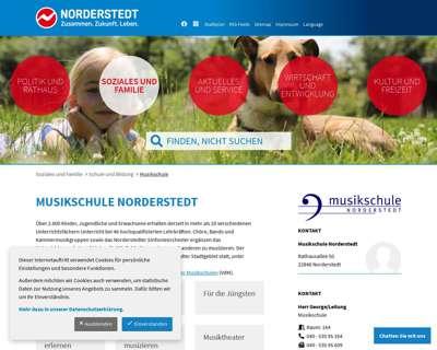 Screenshot (small) http://www.musikschule.norderstedt.de