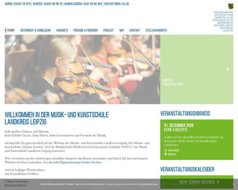 Screenshot (middle) http://www.ms-lkl.de