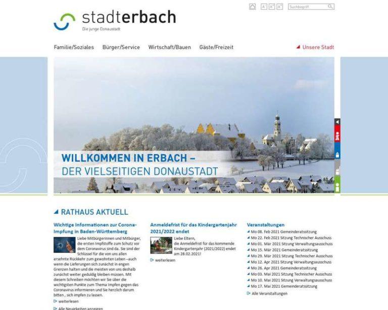 Screenshot (middle) http://www.erbach-donau.de