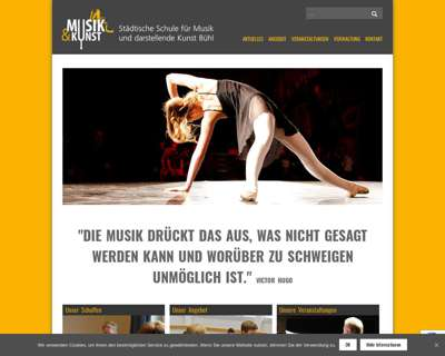 Screenshot (small) http://www.musikschule-buehl.de