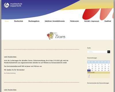 Screenshot (small) http://www.musikschule-wipperfuerth.de