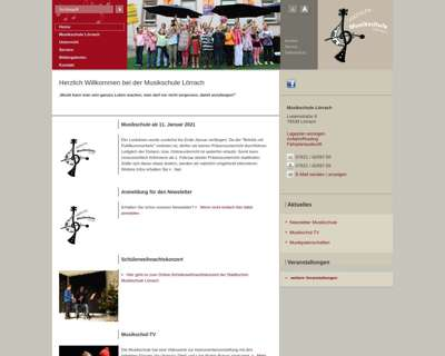 Screenshot (small) http://www.musikschule-loerrach.de