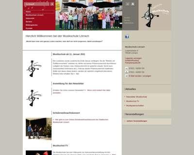 Screenshot (small) http://www.musikschule-loerrach.de