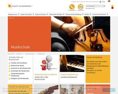 Screenshot (small) http://www.oldenburg.de/musikschule