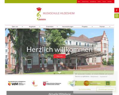 Screenshot (small) http://www.musikschule-hildesheim.de