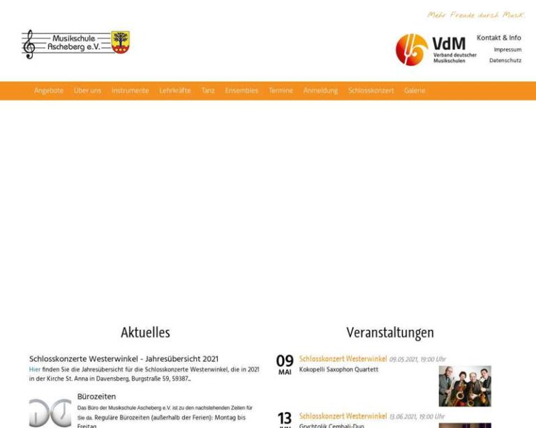 Screenshot (middle) http://www.musikschule-ascheberg.de