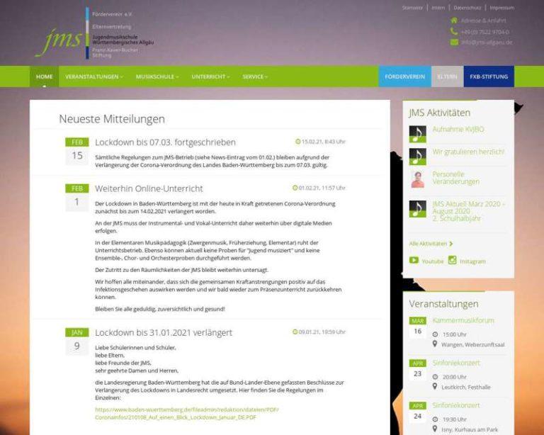 Screenshot (middle) http://www.jms-allgaeu.de