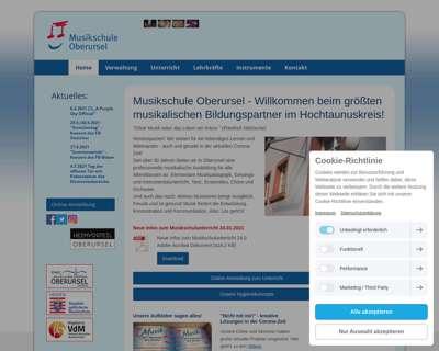 Screenshot (small) http://www.musikschule-oberursel.de
