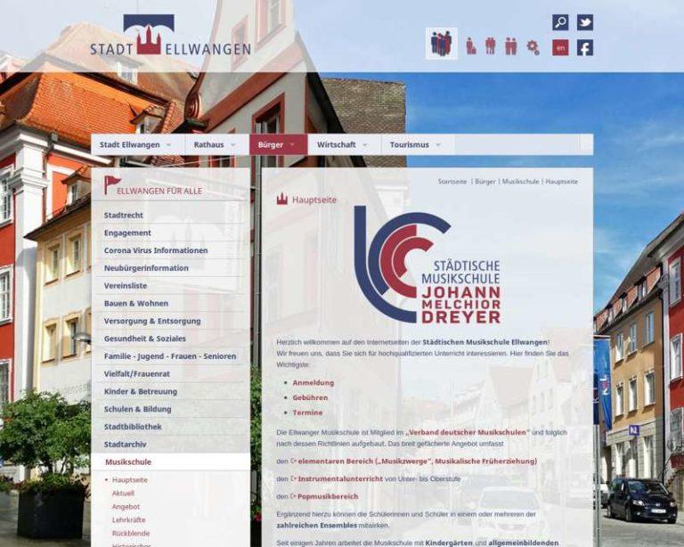 Screenshot (middle) http://www.musikschule-ellwangen.de