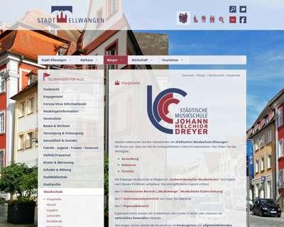 Screenshot (small) http://www.musikschule-ellwangen.de
