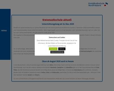 Screenshot (small) http://www.kreismusikschule.nordfriesland.de