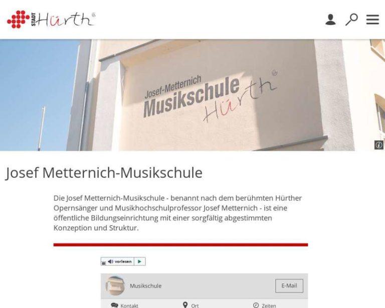 Screenshot (middle) https://www.huerth.de/josef-metternich-musikschule.php