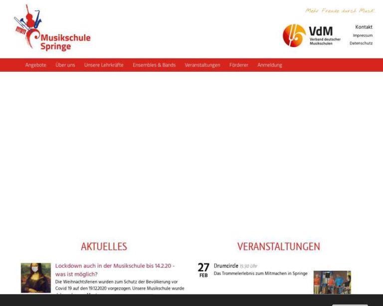 Screenshot (middle) http://www.musikschule-springe.de