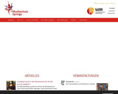 Screenshot (small) http://www.musikschule-springe.de