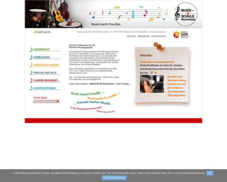 Screenshot (middle) http://www.musikschule-neuenstadt.de