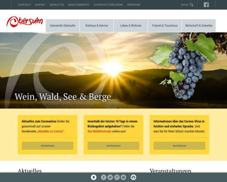 Screenshot (middle) http://www.obersulm.de