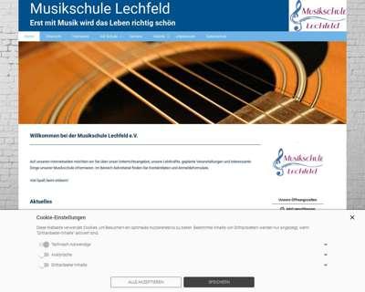 Screenshot (small) http://www.musikschule-lechfeld.de