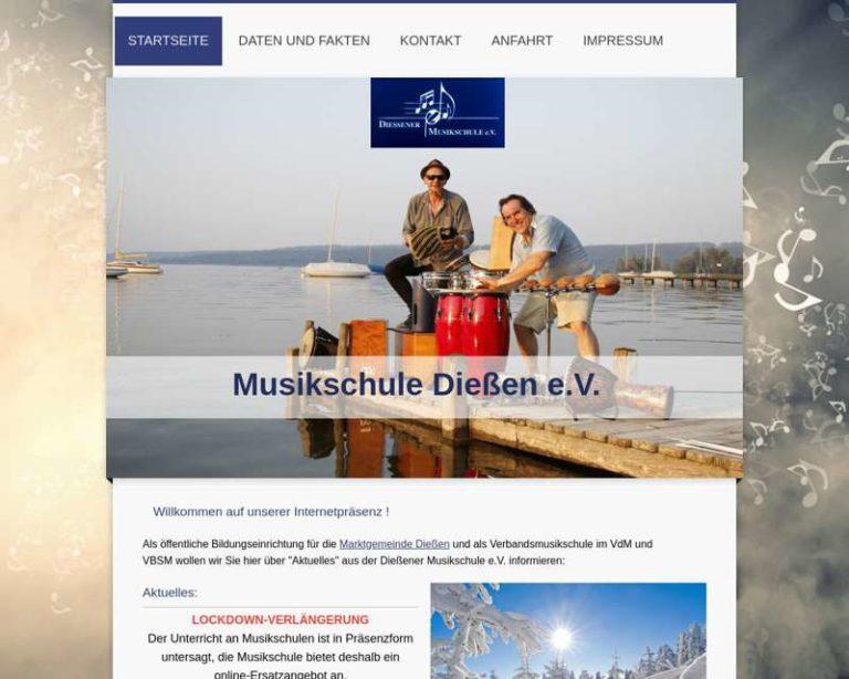 Screenshot (middle) http://www.musikschule-diessen.de
