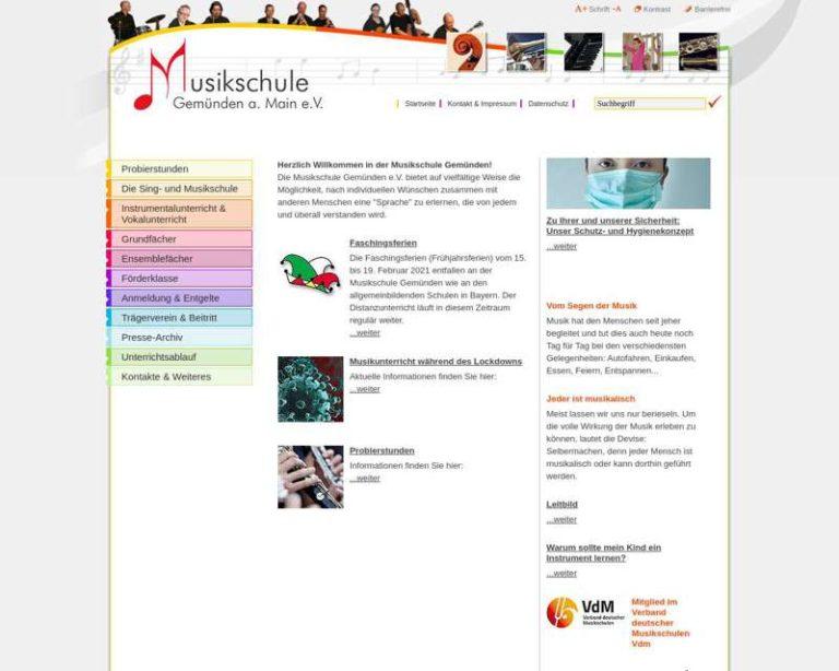 Screenshot (middle) http://www.musikschule-gemuenden.de