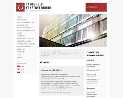 Screenshot (small) http://www.hamburger-konservatorium.de