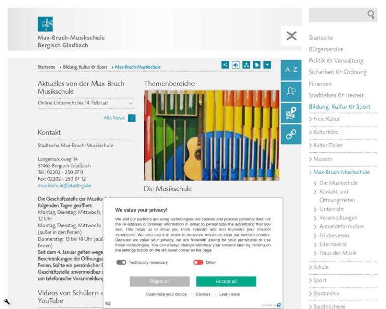 Screenshot (middle) http://www.musikschule-gl.de