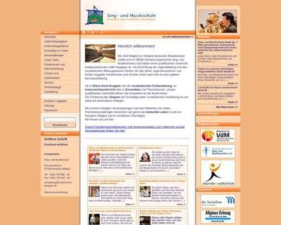 Screenshot (small) http://www.musikschule-kempten.de