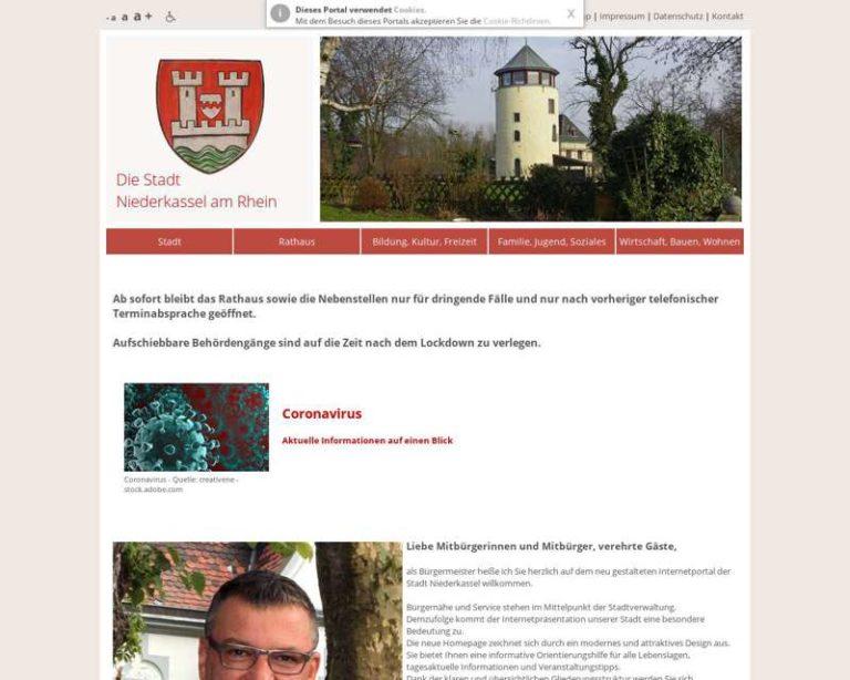 Screenshot (middle) http://www.niederkassel.de
