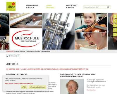 Screenshot (small) http://www.musikschule.loehne.de