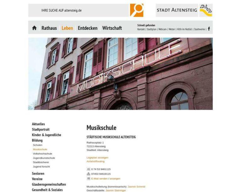 Screenshot (middle) http://www.musikschule-altensteig.de