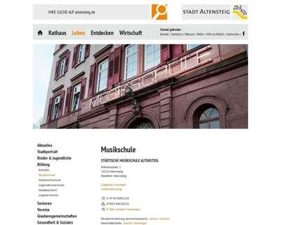 Screenshot (small) http://www.musikschule-altensteig.de