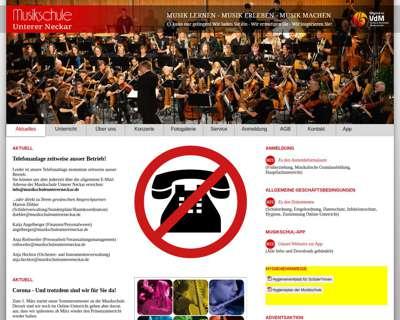 Screenshot (small) http://www.musikschuleuntererneckar.de
