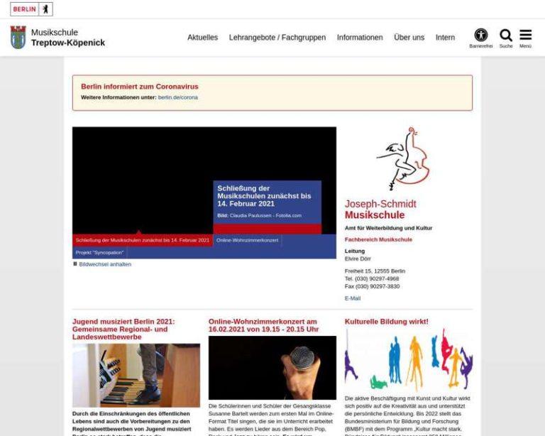 Screenshot (middle) http://www.joseph-schmidt-musikschule.de