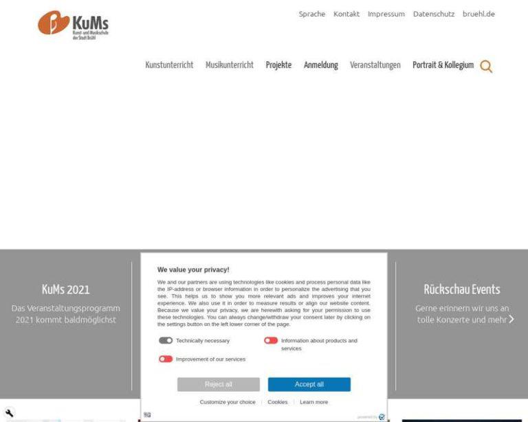 Screenshot (middle) http://www.kums-bruehl.de