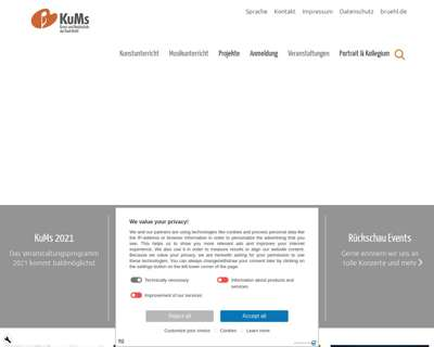 Screenshot (small) http://www.kums-bruehl.de