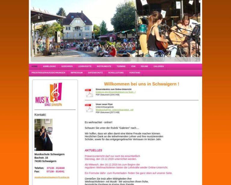 Screenshot (middle) http://www.musikschule-schwaigern.de