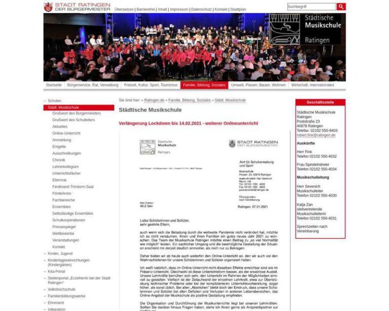 Screenshot (middle) http://www.musikschule-ratingen.de