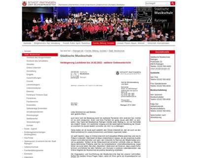 Screenshot (small) http://www.musikschule-ratingen.de