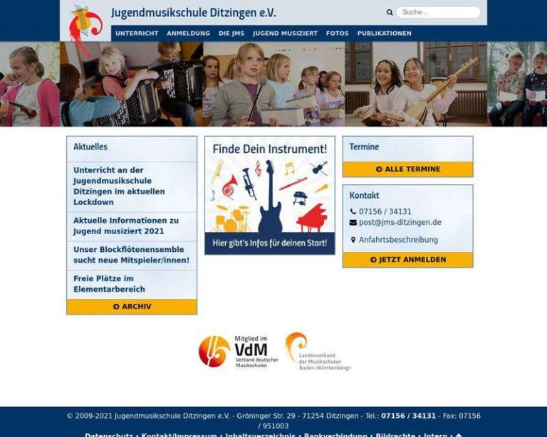 Screenshot (middle) http://www.jms-ditzingen.de