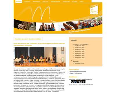 Screenshot (small) http://www.musikschule-markgraeflerland.de