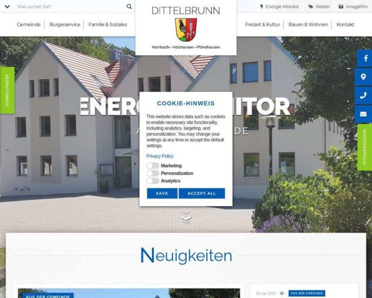 Screenshot (middle) http://www.dittelbrunn.de