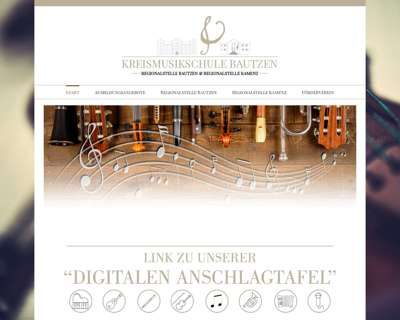 Screenshot (small) http://www.kreismusikschule-bautzen.de