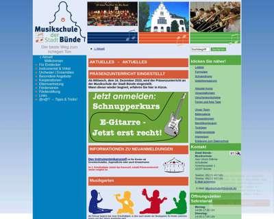 Screenshot (small) http://www.musikschule.buende.de