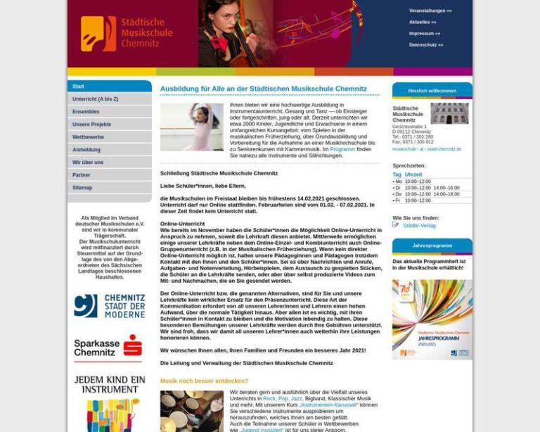 Screenshot (middle) http://www.musikschule-chemnitz.de