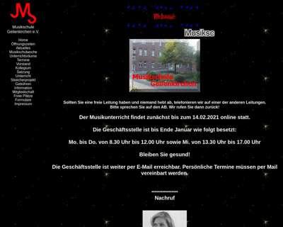Screenshot (small) http://www.musikschule-geilenkirchen.de