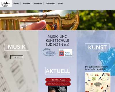 Screenshot (small) http://www.musikschule-buedingen.de