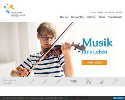 Screenshot (small) http://www.musikschule-suedschwarzwald.de