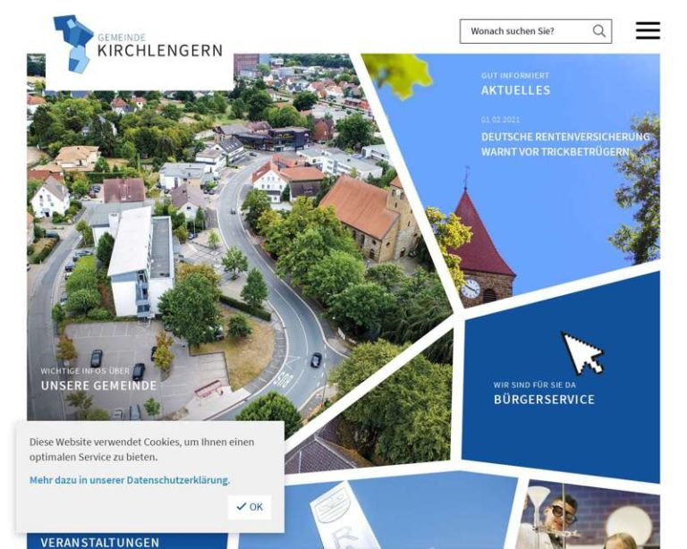 Screenshot (middle) http://www.kirchlengern.de